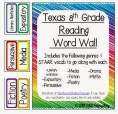 http://www.teacherspayteachers.com/Product/Texas-8th-Grade-Reading-Word-Wall-1342545