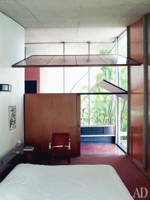 Milan Haus in Brasilien - Architektur zum luftigen Einrichten und Wohnen: Schlafzimmer mit Lüftung