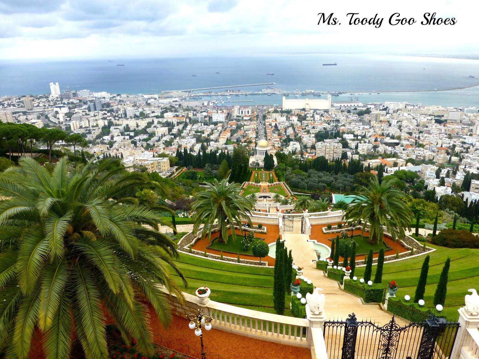 Bahai Gardens - Haifa, Israel  --- Ms. Toody Goo Shoes