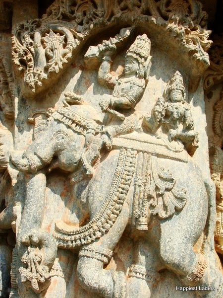 Indra on elephant javagal temple