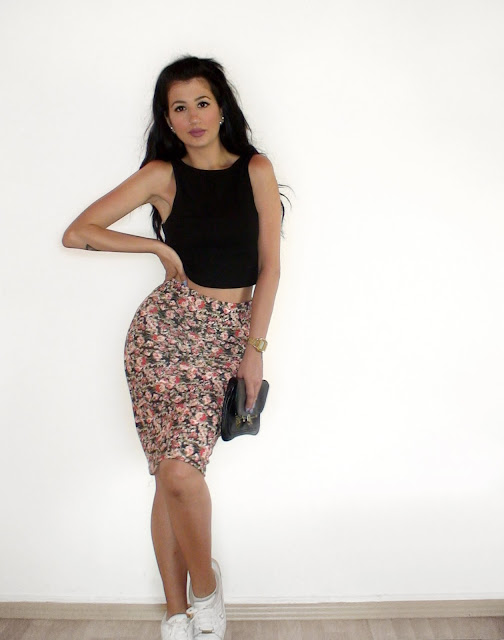 pencil midi skirt outfit