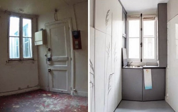 She Starts With A Tiny, Filthy Room And Transforms It Into A Fully Functional Apartment. Awesome!