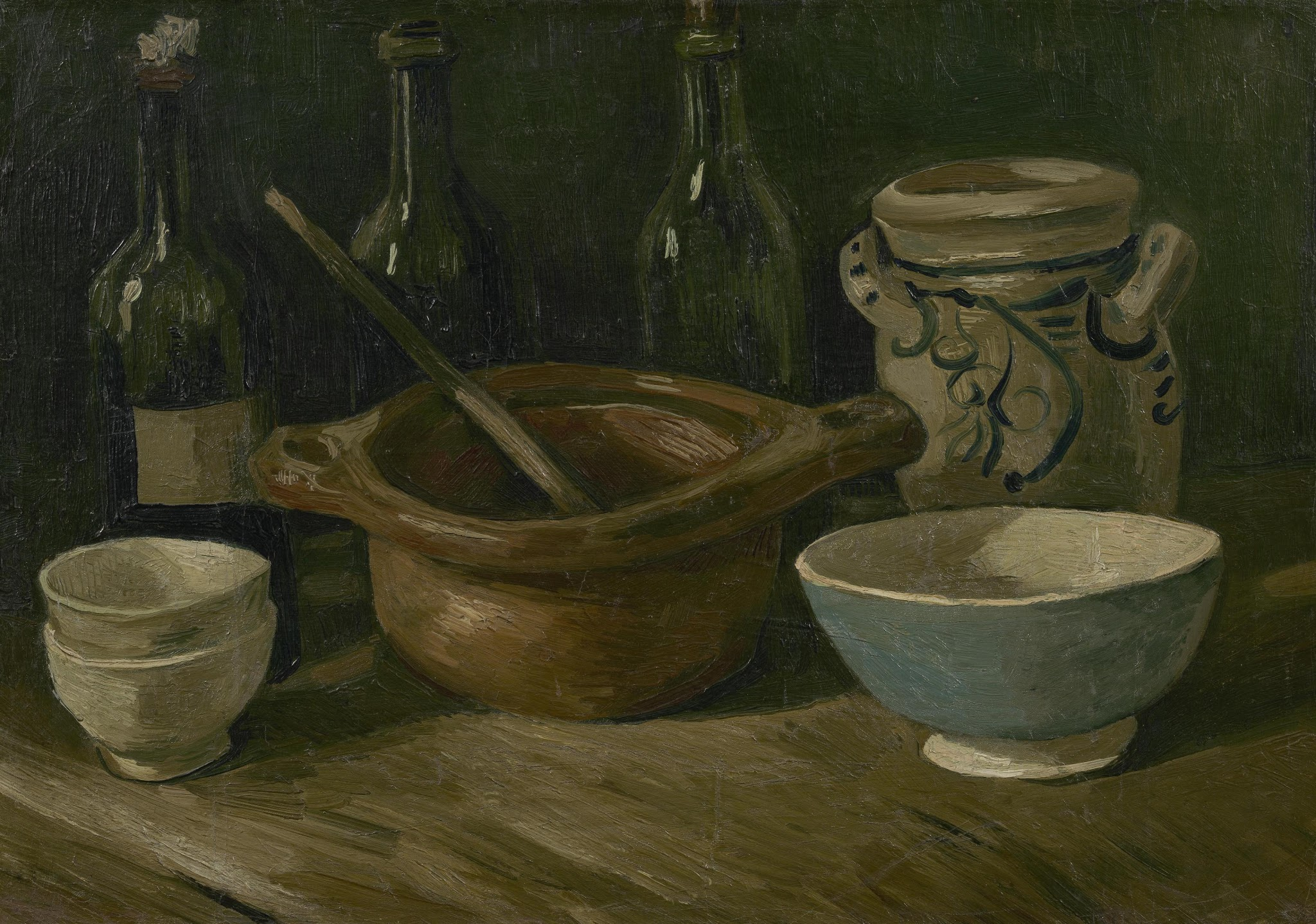 Still Life with Earthenware and Bottles (F 53, JH 538) by Vincent van Gogh