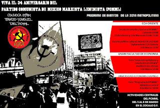 34 Aniversario del PCMML eventos Zona Metropolitana
