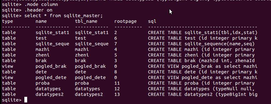 sqlite_master table