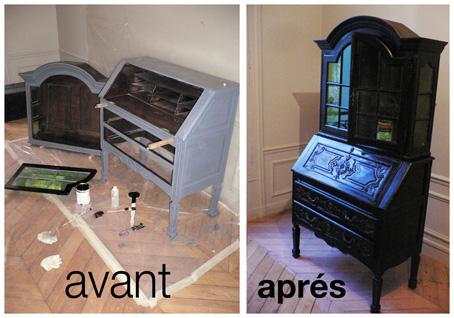 Pierre paris repeindre un meuble en bois for Repeindre un meuble en bois