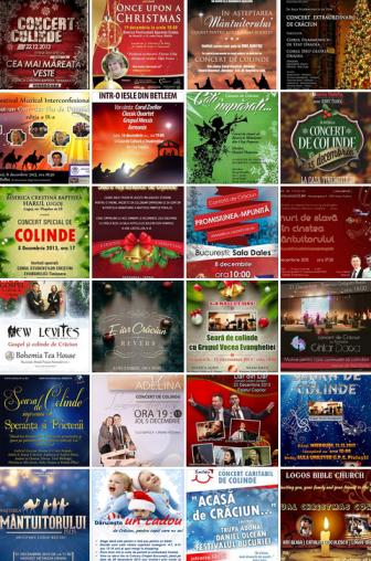 Colecţia afişelor de Crăciun 2013