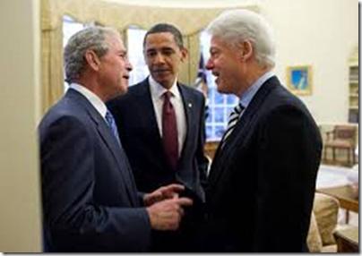 Ομπάμα, Μπους, Κλίντον