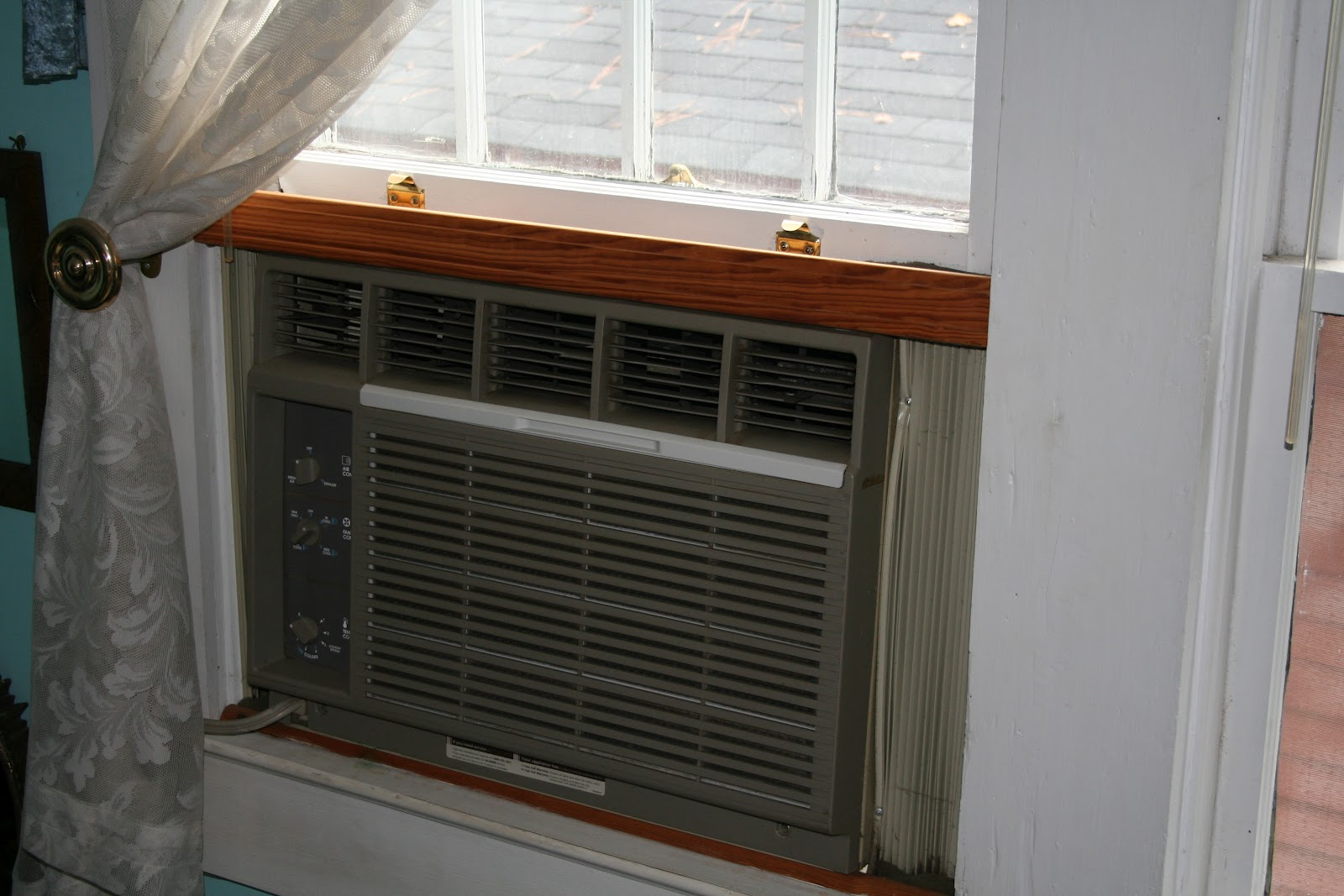 when i bought my house in the air system consisted of an ancient grilleless btu 110v window unit which was fed by a 20u0027 long