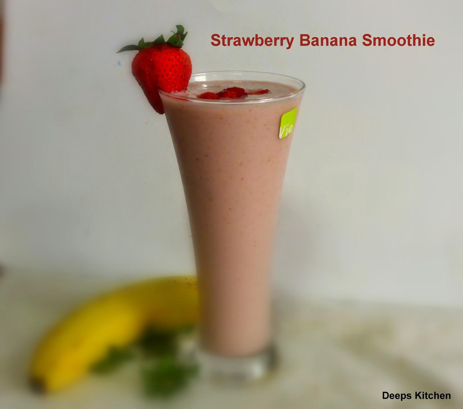 Strawberry Banana Milkshake or smoothie