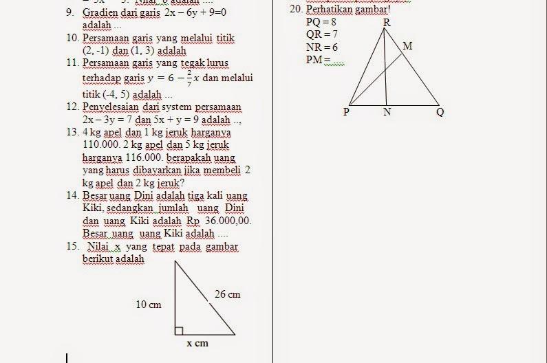 Kampo3ng Math Uas Matematika Kelas 8 Semester Gasal