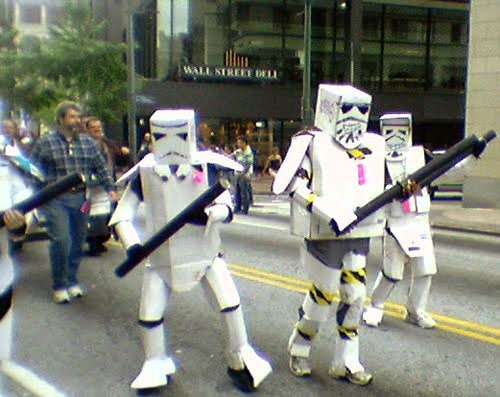Déguisement raté de stormtroopers de Star Wars