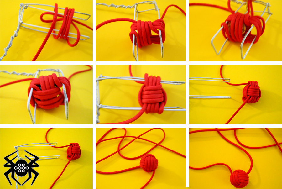 How to tie the monkey fist knot