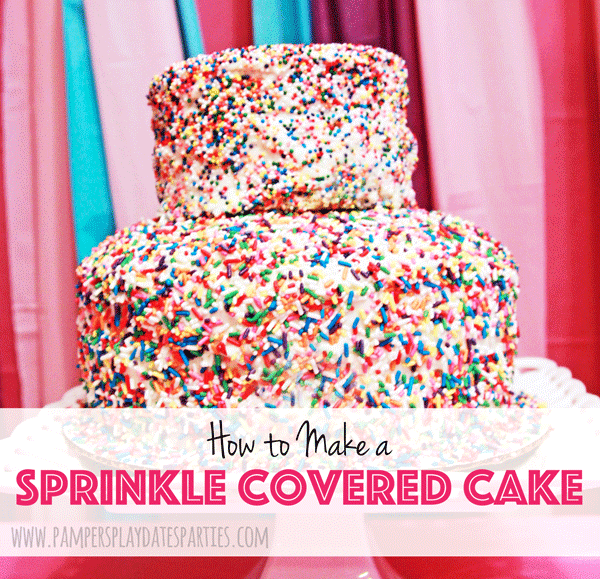 How to Make a Sprinkle Covered Cake