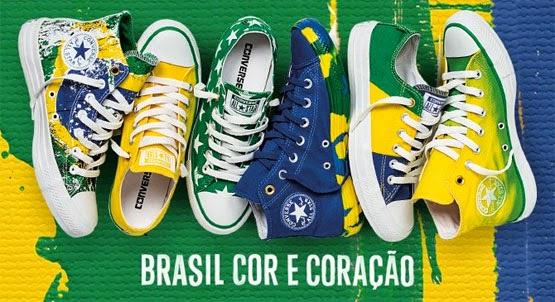 Converse coleção Brasilidade tênis cores do Brasil para o Mundial