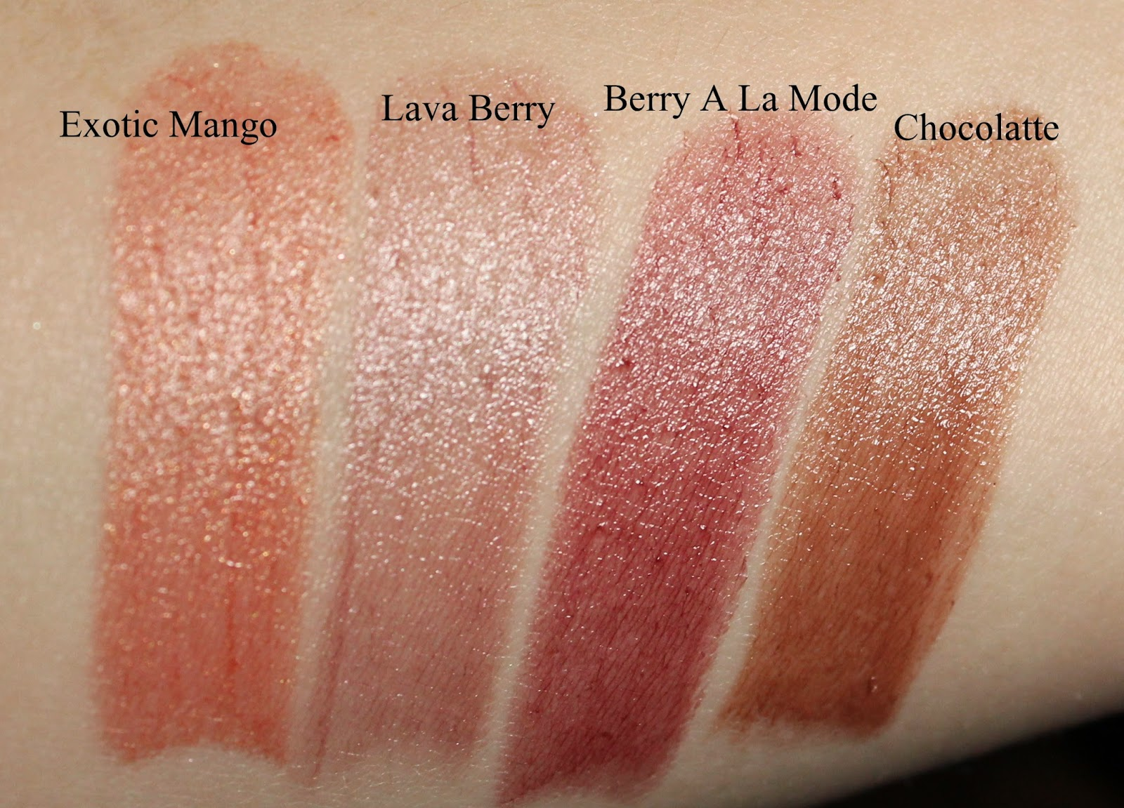Mary Kay True Dimensions Lipstick Swatches