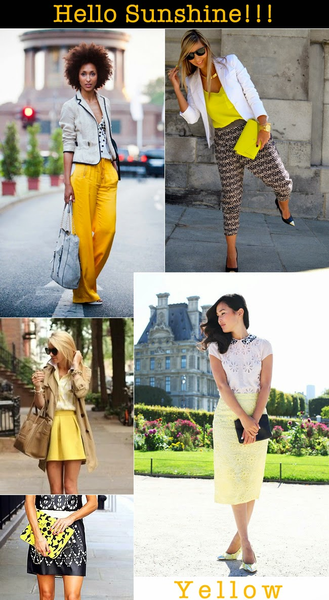 fashion trend yellow