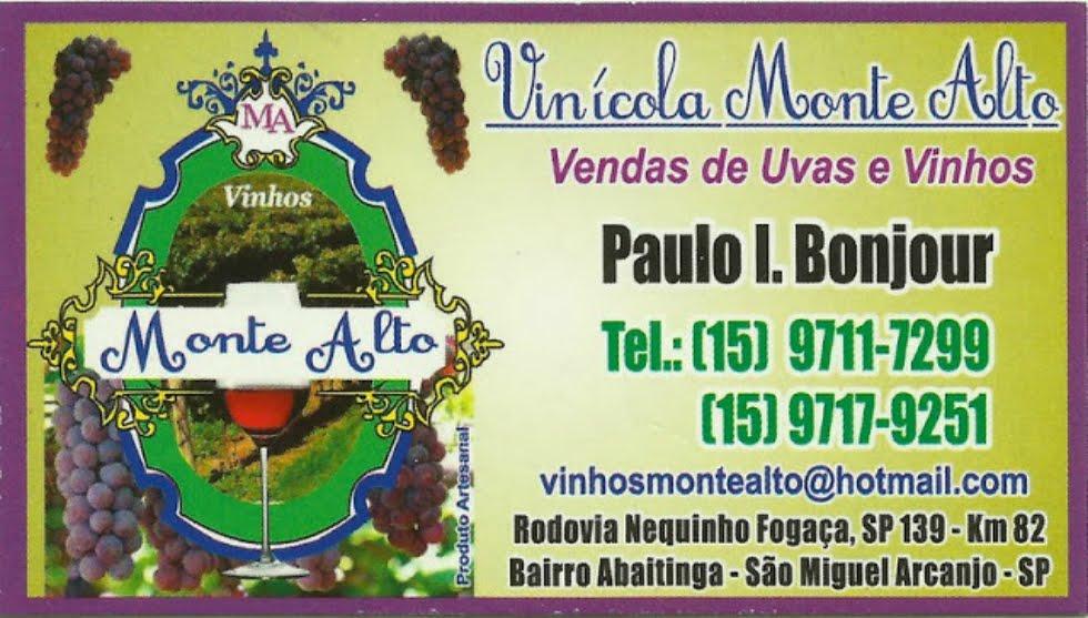 Vinícola Monte Alto Venda de Uvas e Vinhos