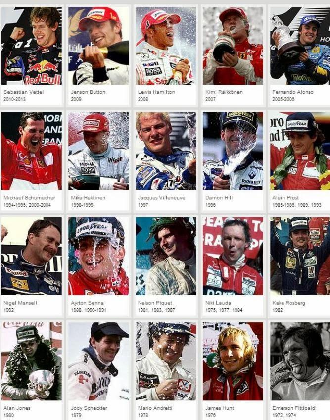 Pilotos f1-Campeones-1973-2013