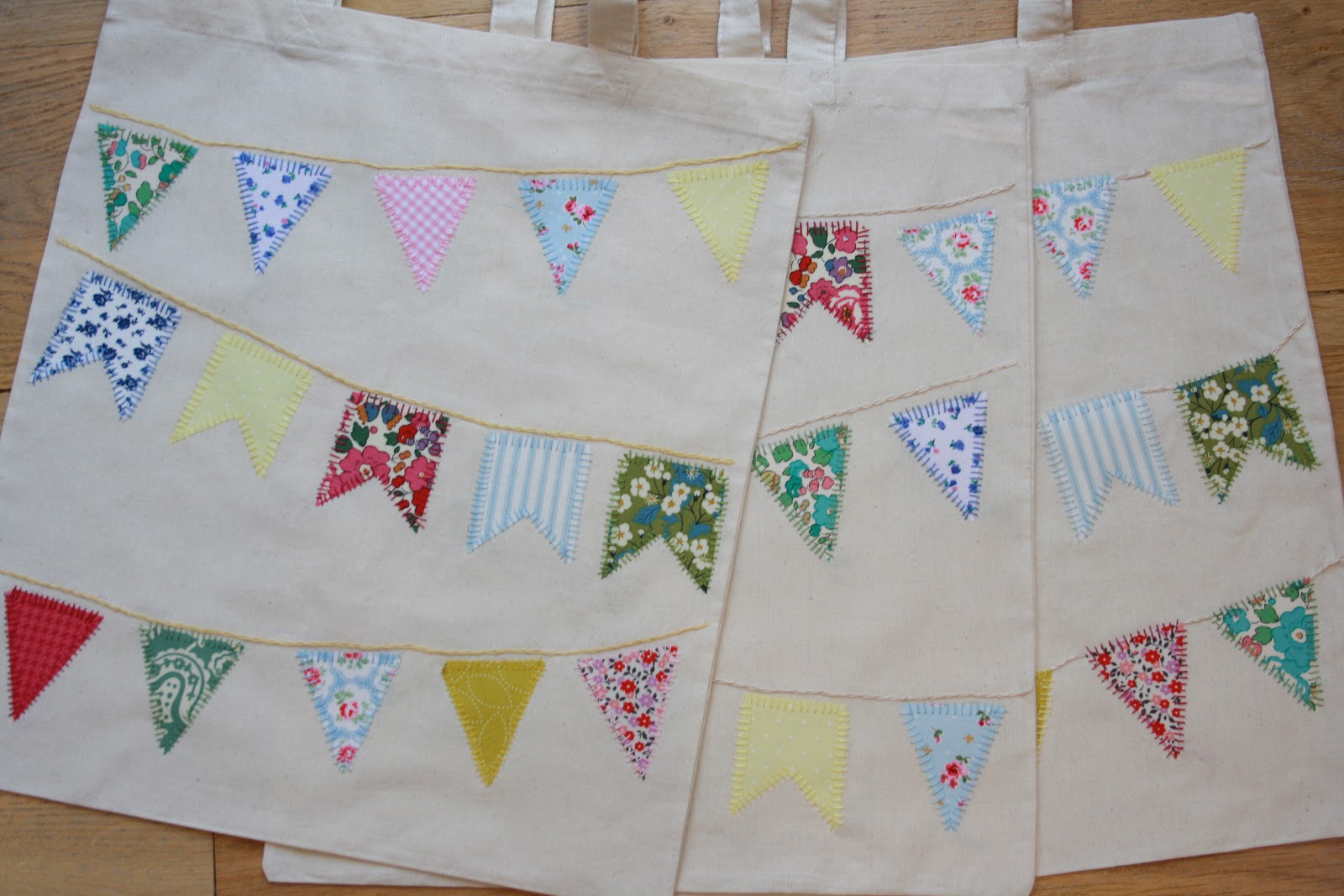 Tales from a happy house some bunting bags mollie make for Sewing to sell at craft fairs
