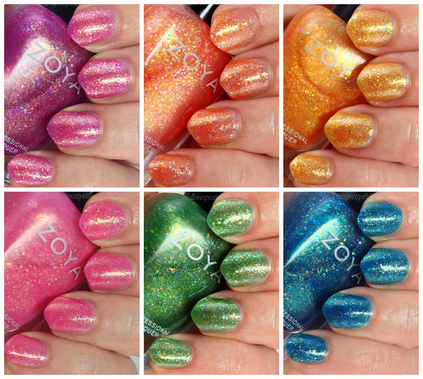Zoya Bubbly summer 2014 collection swatches and review