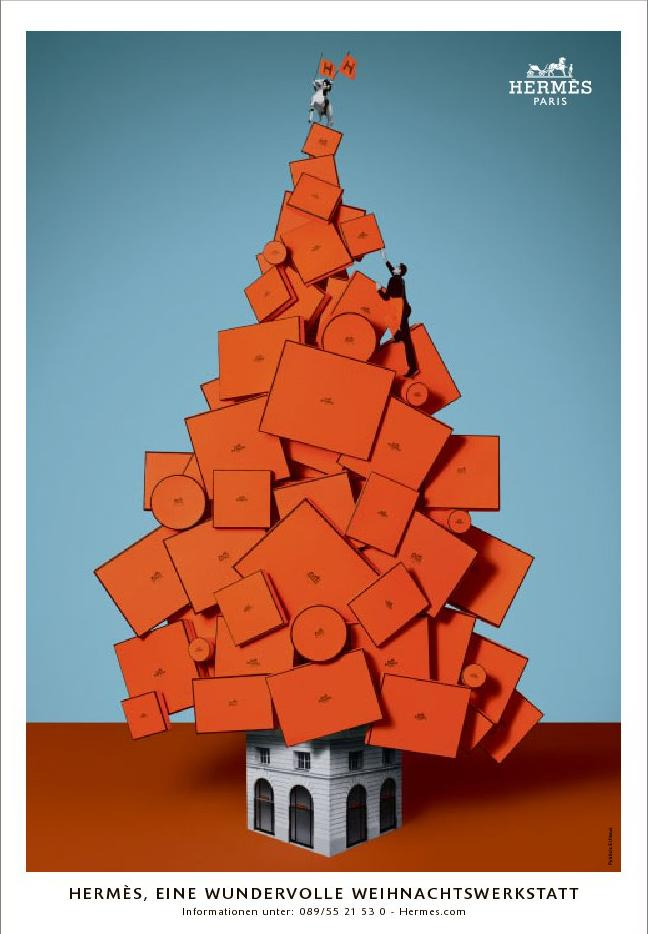 The Terrier and Lobster: Hermès Christmas Tree Ads
