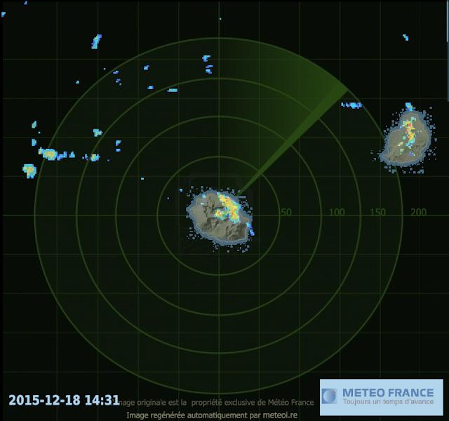 Image radar ile de la Réunion
