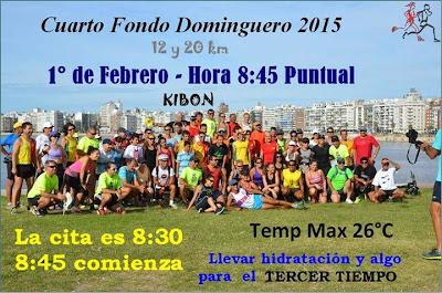 Entrenamientos - 4º Fondo dominguero (Kibón, 01/feb/2015)