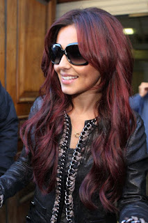 Couleur cheveux acajou rouge fonce