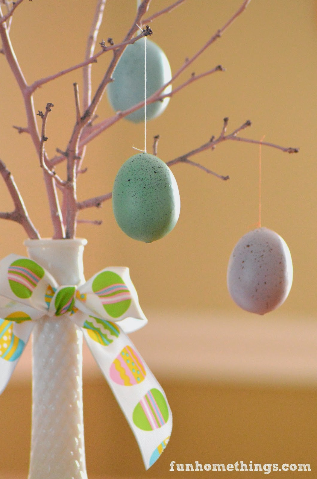 Fun home things easter egg tree centerpiece How to make an easter egg tree