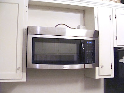 how to open microwave door without handle