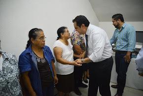 Convive Américo Zúñiga con trabajadores del Ayuntamiento