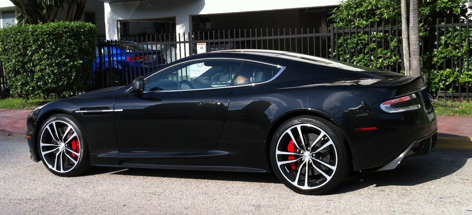 Black Aston Martin Dbs V12 Exotic Cars On The Streets Of