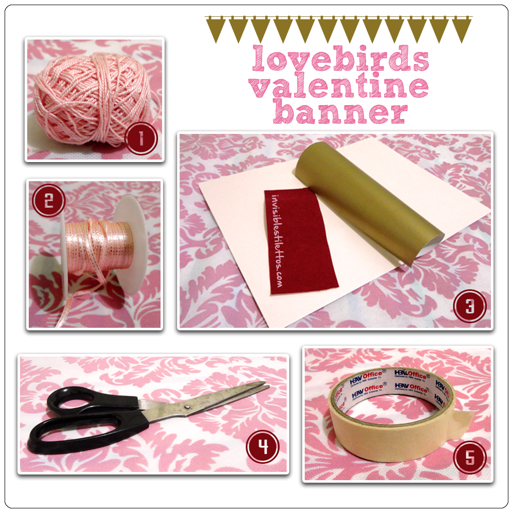 Lovebirds Valentine Banner