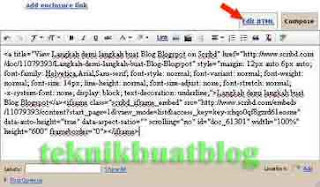 edit kod html
