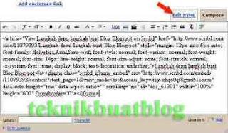 edit kod html