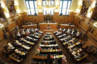 Bild Plenarsaar Hamburgische Bürgerschaft