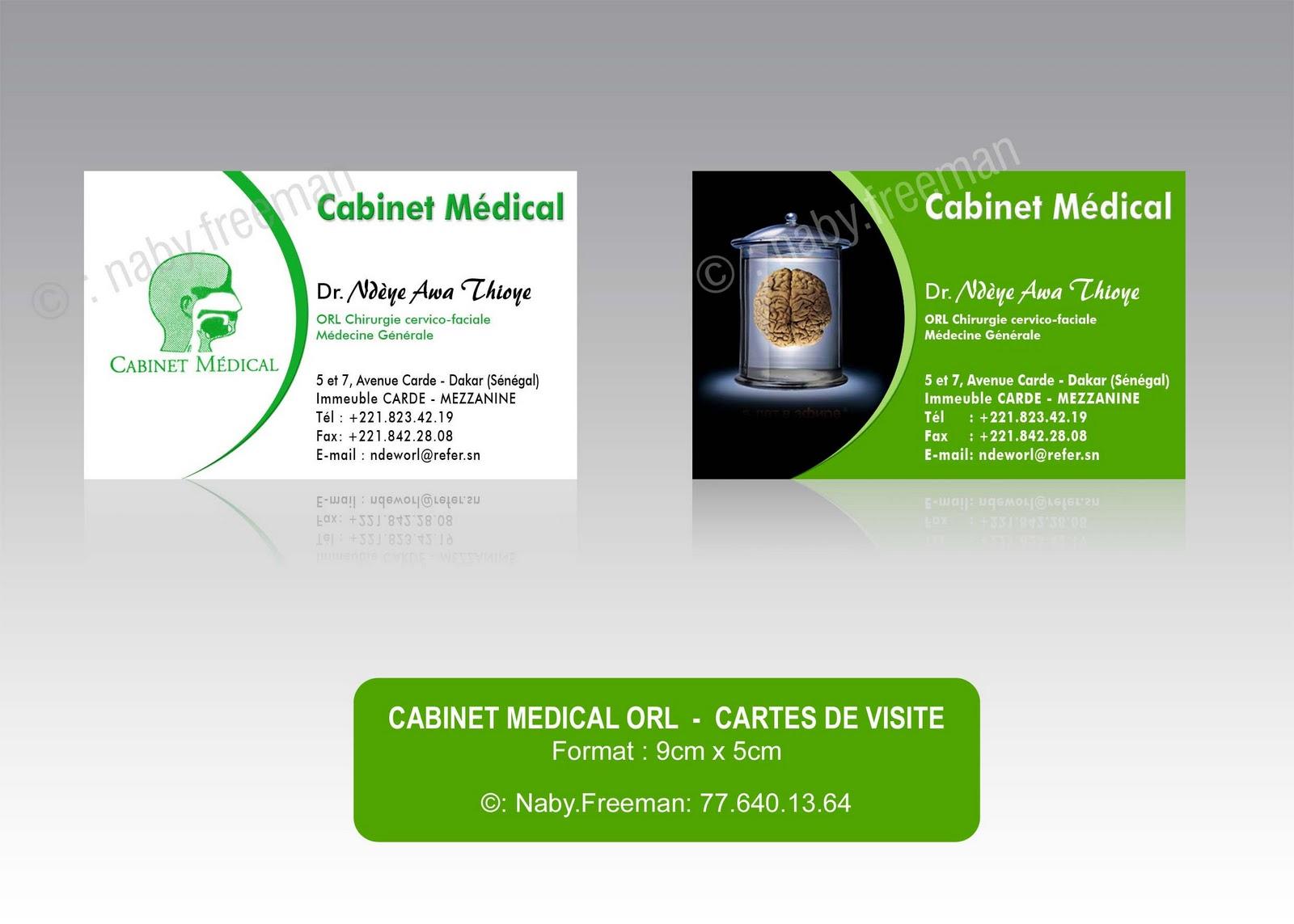 Realisation De Cartes Visite Pour Cabinet Medical ORL