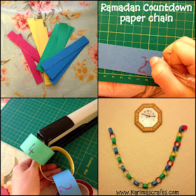 Ramadan Countdown Crafts Paper Chain Muslim