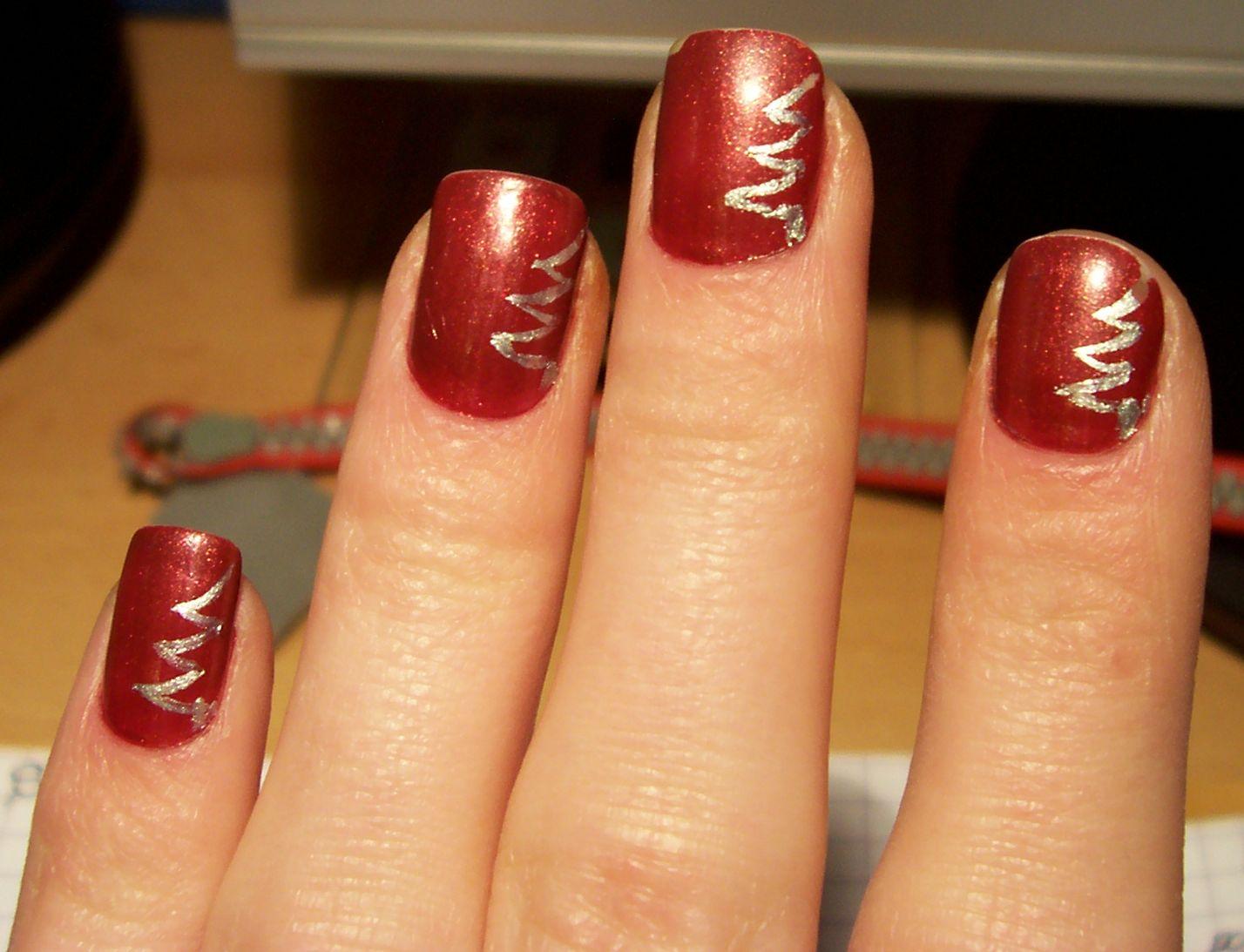 Feminine World By Sss świąteczny Manicure Czyli Paznokcie W Choinki