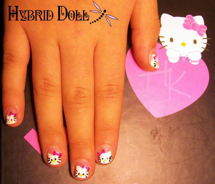 Hybrid Nails Week 8 Hello Kitty Nail Design