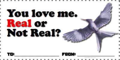 You Love Me? Real or Not Real? Valentine www.hungergameslessons.com