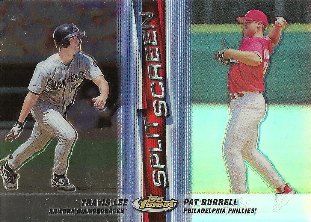 1999 Finest Split Screen – Right Refractor #SS14 Travis Lee & Pat Burrell