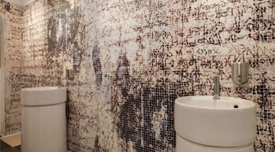 paredes con mosaicos