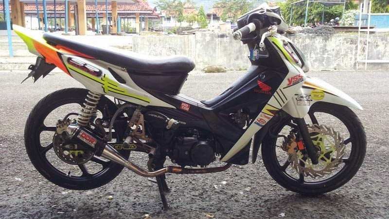 modifikasi honda revo 100cc