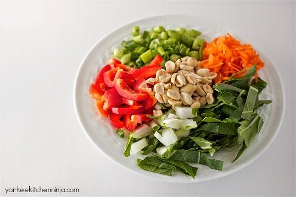 Crunchy bok choy salad | Yankee Kitchen Ninja