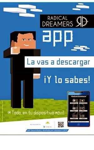 Cartel promocional Radical Dreamers app