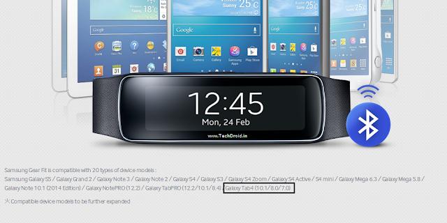 Samsung Galaxy Tab 4 listing