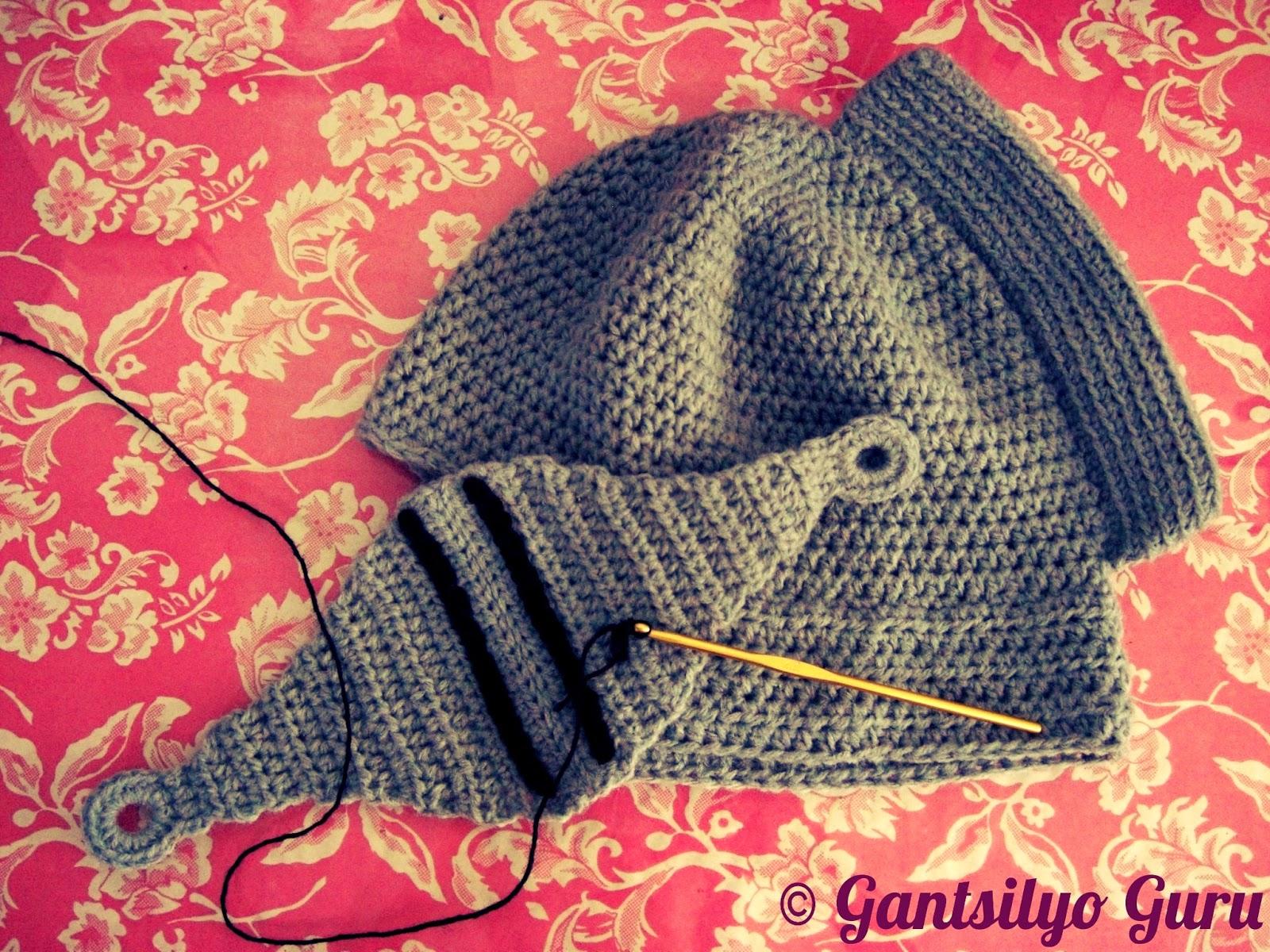 Gantsilyo Guru: Crocheted Knight Helmet