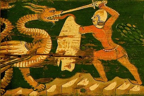 El Duque luchando contra la Bestia
